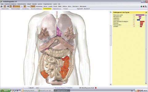 Messobjekte im Bauchbereich